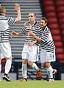Jamie Longworth (9) celebrates after he scores Queen's Park's first from the spot to make it 1-1 .....