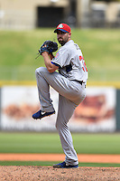 Tennessee Smokies pitcher Tony Zych (32) delivers a pitch during a game against the Birmingham Barons on April 21, 2014 at Regions Field in Birmingham, Alabama.  Tennessee defeated Birmingham 10-5.  (Mike Janes/Four Seam Images)