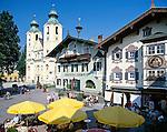 Austria, Tyrol, St. Johann in Tyrol: centre, church Maria Ascention at main square
