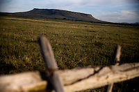 A view of Ulm Pishkun near Ulm, Montana, USA.  Ulm Pishkun is a natural landscape used by Native Americans to kill buffalo.
