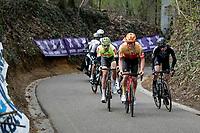 breakaway group up De Hagaard<br /> <br /> 61st Brabantse Pijl 2021 (1.Pro)<br /> 1 day race from Leuven to Overijse (BEL/202km)<br /> <br /> ©kramon