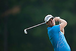 Lucas Bjerregaard of Denmark hits the ball during Hong Kong Open golf tournament at the Fanling golf course on 24 October 2015 in Hong Kong, China. Photo by Xaume Olleros / Power Sport Images