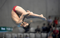 Canada's Francois Imbeau-Dulac competes in the men's 3m Springboard final <br /> <br /> Photographer Hannah Fountain/CameraSport<br /> <br /> FINA/CNSG Diving World Series 2019 - Day 2 - Saturday 18th May 2019 - London Aquatics Centre - Queen Elizabeth Olympic Park - London<br /> <br /> World Copyright © 2019 CameraSport. All rights reserved. 43 Linden Ave. Countesthorpe. Leicester. England. LE8 5PG - Tel: +44 (0) 116 277 4147 - admin@camerasport.com - www.camerasport.com