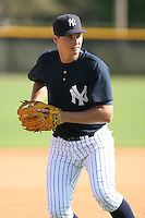 March 17th 2008:  Braedyn Pruitt of the New York Yankees minor league system during Spring Training at Legends Field Complex in Tampa, FL.  Photo by:  Mike Janes/Four Seam Images