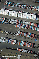 aerial photograph containers at Port of Oakland, California