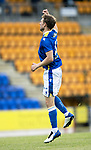 St Johnstone v Preston North End…13.07.21  McDiarmid Park<br />David Wotherspoon celebrates his goal<br />Picture by Graeme Hart.<br />Copyright Perthshire Picture Agency<br />Tel: 01738 623350  Mobile: 07990 594431