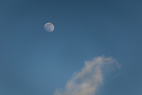 The waxing gibbous moon three days away from being the Full Wolf Moon of January 2021.