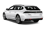Car pictures of rear three quarter view of a 2019 Peugeot 508 First Edition 5 Door Wagon angular rear