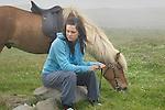 Girl with her horse, St. Olav Festival,Torshavn, Faroe Islands