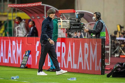17th November 2020;  Estadio La Cartuja de Sevilla, Seville, Spain; UEFA Nations League Football, Spain versus Germany;   Joachim Loew, Bundestrainer (ger) looks on frustrated as his team lags behind