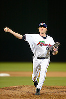 Fort Myers Miracle pitcher Cole Johnson #33 during a game against the Jupiter Hammerheads on April 9, 2013 at Hammond Stadium in Fort Myers, Florida.  Fort Myers defeated Jupiter 1-0.  (Mike Janes/Four Seam Images)