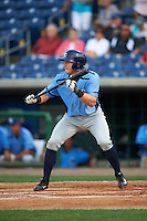 Charlotte Stone Crabs shortstop Alec Sole (23) squares to bunt during a game against the Clearwater Threshers on April 12, 2016 at Bright House Field in Clearwater, Florida.  Charlotte defeated Clearwater 2-1.  (Mike Janes/Four Seam Images)