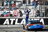 2017 NASCAR XFINITY Series - Rinnai 250<br /> Atlanta Motor Speedway, Hampton, GA USA<br /> Saturday 4 March 2017<br /> Kyle Busch, NOS Energy Drink Toyota Camry celebrates<br /> World Copyright: Barry Cantrell/LAT Images<br /> ref: Digital Image 17ATLbc2437