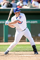 February 29, 2008:  JD Closser of the Chicago Cubs at Hohokam Park during spring training in Mesa, AZ. Photo by:  Chris Proctor/Four Seam Images