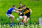Michael Potts, Dr Crokes, in action against Shane Brosnan, Kerins O'Rahillys, in the Kerry Petroleum Senior Club Championship Group 1 Round 2 at Lewis riad, Killarney on Saturday evening.