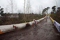muddy descending<br /> <br /> Women U23 Race<br /> UCI 2016 cyclocross World Championships