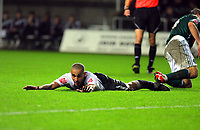 ATTENTION SPORTS PICTURE DESK<br /> Pictured: Darren Pratley of Swansea City in action <br /> Re: Coca Cola Championship, Swansea City Football Club v Plymouth Argyle at the Liberty Stadium, Swansea, south Wales. Tuesday 08 December 2009