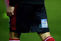 Lincoln City players with sponsorship from The Peter Crouch Podcast on their shorts<br /> <br /> Photographer Andrew Vaughan/CameraSport<br /> <br /> The EFL Sky Bet League One - Lincoln City v Milton Keynes Dons - Tuesday 11th February 2020 - LNER Stadium - Lincoln<br /> <br /> World Copyright © 2020 CameraSport. All rights reserved. 43 Linden Ave. Countesthorpe. Leicester. England. LE8 5PG - Tel: +44 (0) 116 277 4147 - admin@camerasport.com - www.camerasport.com
