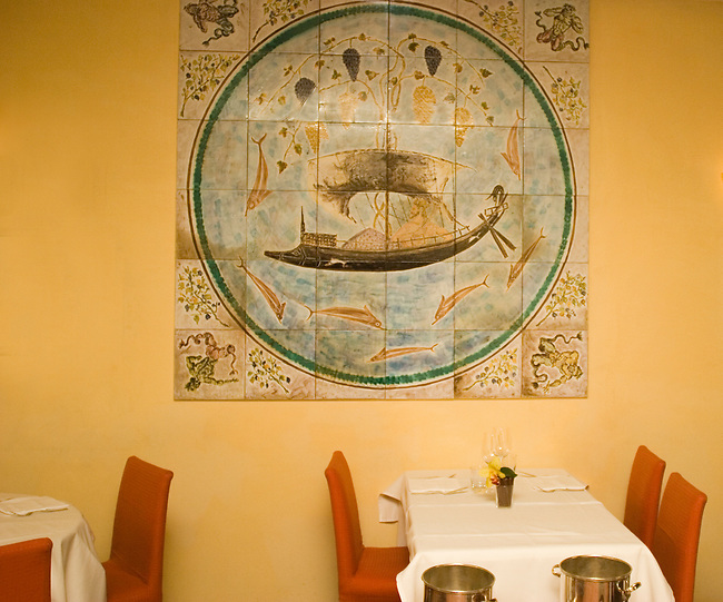 Interior, Pan La Rosetta Restaurant, Rome, Italy