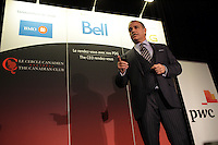 Montreal, CANADA, March 16, 2015.<br /> <br /> Yves Desjardins-Siciliano, President and Chief Executive Officer of VIA Rail Canada, delivers a speech to the Canadian Club of Montreal<br /> <br /> PHOTO : Agence Quebec Presse - Pierre Roussel