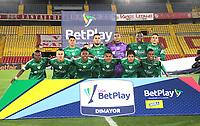 BOGOTÁ - COLOMBIA, 16-08-2021.:Jugadores de La Equidad posan para una foto previo al partido por la fecha 5 entre  Independiente Santa Fe  y La Equidad como parte de la Liga BetPlay DIMAYOR 2021 jugado en el estadio Nemesio Camacho El Campin de la ciudad de Bogotá. / Players of La Equidad  pose to a photo prior Match for the date 5 between  Independiente Santa Fe and La Equidad as part of the BetPlay DIMAYOR League I 2021 played at Nemesio Camacho El Campi  stadium in Bogota city. Photo: VizzorImage / Felipe Caicedo / Staff