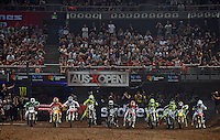 Starting action / general views<br /> 2015 Round 5 / Class : SX1<br /> Australian Supercross Championship / AUS-X Open<br /> Sydney NSW Saturday 28 November 2015<br /> © Sport the library / Jeff Crow