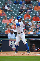 Luke Heyer (26) of the Kentucky Wildcats at bat against the Sam Houston State Bearkats during game four of the 2018 Shriners Hospitals for Children College Classic at Minute Maid Park on March 3, 2018 in Houston, Texas. The Wildcats defeated the Bearkats 7-2.  (Brian Westerholt/Four Seam Images)