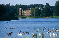 The north front of Blickling Hall seen from across the lake