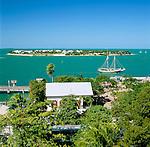 USA, Florida, Key West: Waterfront | USA, Florida, Key West: Kueste mit vorgelagerter Insel