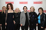 Judith Kasen, Rebecca Taichman, Rabbi Sharon Kleinbaum, Edie Windsor, Daryl Roth and Randi Weingarten attend the Broadway Opening Night Performance of  'Indecent' at The Cort Theatre on April 18, 2017 in New York City.