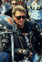 JOHNNY HALLYDAY<br /> 1990<br /> © CAMHI/ DALLE