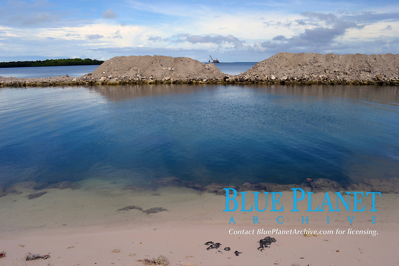 Public beach and landfill, Pohnpei, Federated States of Micronesia