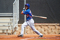 GCL Mets third baseman Rigoberto Terrazas (11) at bat during the first game of a doubleheader against the GCL Astros on August 5, 2016 at Osceola County Stadium Complex in Kissimmee, Florida.  GCL Astros defeated the GCL Mets 4-1 in the continuation of a game started on July 21st and postponed due to inclement weather.  (Mike Janes/Four Seam Images)