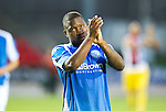 St Johnstone v Eskisehirspor...26.07.12  Europa League Qualifyer.Nigel Hasselbaink applauds the fans.Picture by Graeme Hart..Copyright Perthshire Picture Agency.Tel: 01738 623350  Mobile: 07990 594431