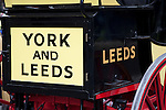The Names of York and Leeds on the back of a Carriage