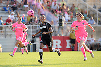 Candace Chapman (5) of the Western New York Flash. The Western New York Flash defeated Sky Blue FC 2-0 during a Women's Professional Soccer (WPS) match at Yurcak Field in Piscataway, NJ, on July 17, 2011.