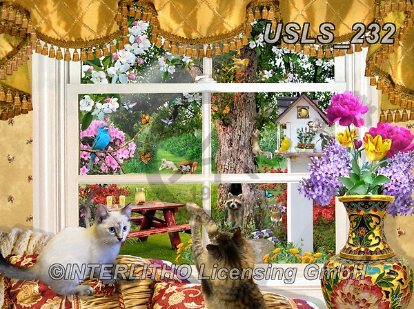 Lori, LANDSCAPES, LANDSCHAFTEN, PAISAJES, paintings+++++Looking Through A Window_12_10in_72,USLS232,#l#, EVERYDAY ,puzzle,puzzles