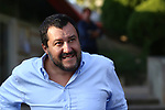 Interior minister Matteo Salvini  in visit for the next local election at the popular area of Madonna Bianca at Trento in Italy, on October 13, 2018.