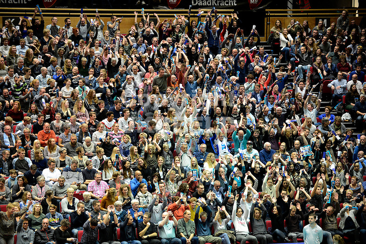 GRONINGEN - Volleybal, Abiant Lycurgus - Noriko Maaseik , Martiniplaza, Champions League , seizoen 2016-2017, 16-11-2016 fel meelevende publiek
