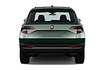 Straight rear view of a 2018 Skoda Karoq Style 5 Door SUV stock images