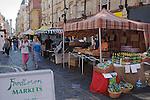 Farmers Market.  Rupert Street, Soho. London Uk.