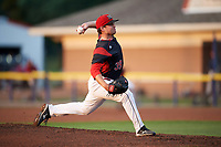 Batavia Muckdogs starting pitcher Sean Guenther (39) delivers a pitch during a game against the Mahoning Valley Scrappers on September 5, 2017 at Dwyer Stadium in Batavia, New York.  Mahoning Valley defeated Batavia 4-3.  (Mike Janes/Four Seam Images)