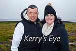 Michael and Margaret Lynch enjoying a stroll at the lock gates in Lohercannon on Monday