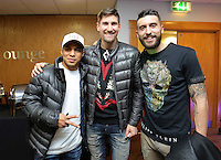 Pictured: Jefferson Montero, Federico Fernandez and Borja Gonzalez Tuesday 06 December 2016<br />Re: Swansea City FC Christmas Party at the Liberty Stadium, Wales, UK