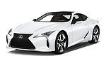 2018 Lexus LC 500 Sport Plus 2 Door Coupe angular front stock photos of front three quarter view