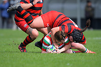Action from the Wellington women's division two club rugby match between Poneke and Hutt Old Boys Marist at Kilbirnie Park in Wellington, New Zealand on Saturday, 17 April 2021. Photo: Dave Lintott / lintottphoto.co.nz