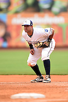 NW Arkansas Naturals first baseman Juan Graterol (35) during a game against the Corpus Christi Hooks on May 26, 2014 at Arvest Ballpark in Springdale, Arkansas.  NW Arkansas defeated Corpus Christi 5-3.  (Mike Janes/Four Seam Images)