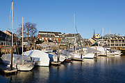 Pickering Wharf in Salem, Massachusetts USA.