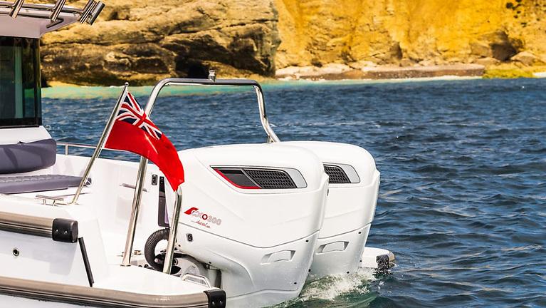 Cox Marine's 300hp diesel, twin-turbo CXO300, V8 outboard engine
