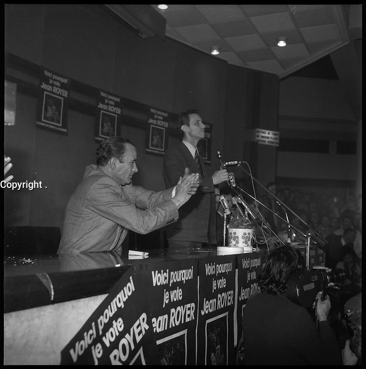 25 Avril 1974. Vue du meeting de Jean Royer à Toulouse.